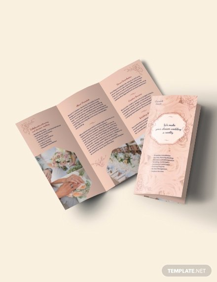 Trifold Brochure Template Photoshop Elegant Wedding Planner Tri Fold Brochure Template Download 0 Brochures In Microsoft Word Publisher