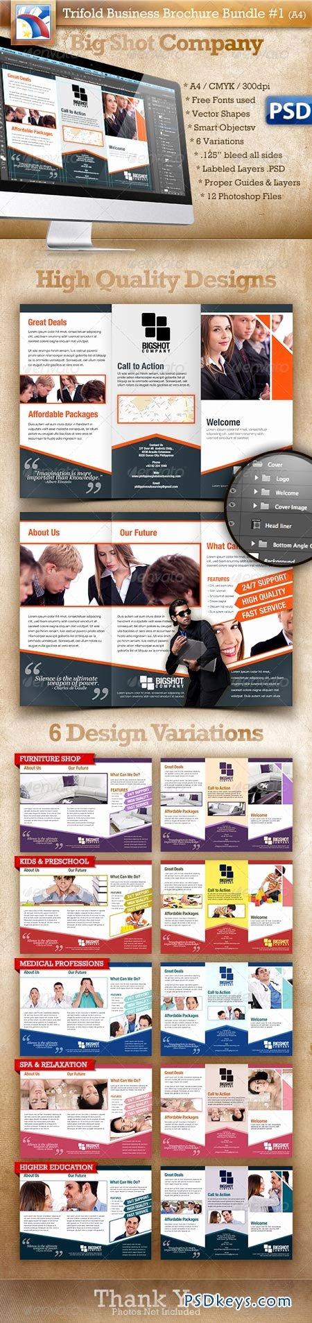 Trifold Brochure Template Photoshop Fresh A4 Trifold Brochure Template Psd 6 Variations 1 Free Download Shop Vector Stock