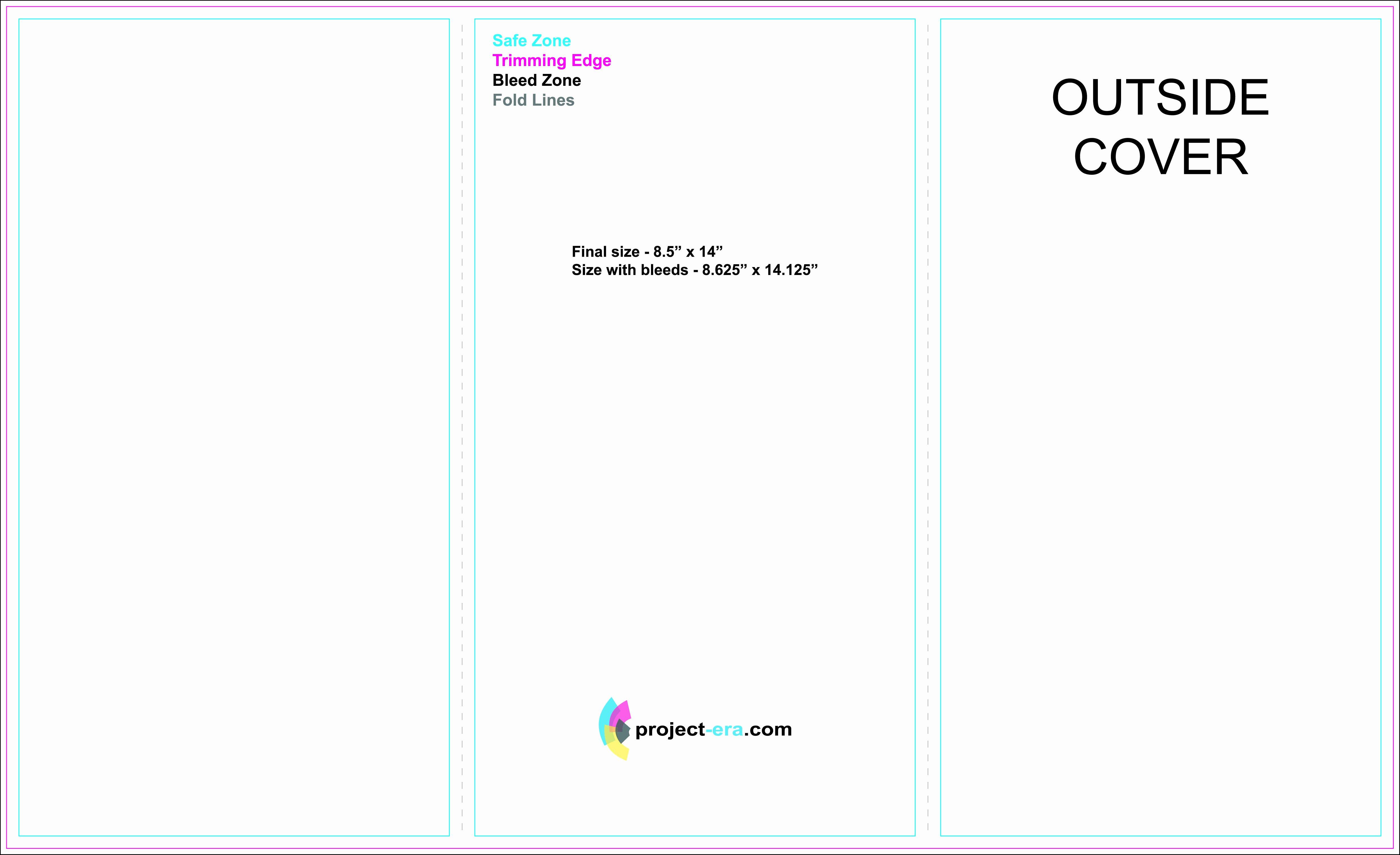 "Trifold Brochure Template Photoshop Fresh Free Tri Fold Brochure Templates Based On 8 5"" X 14"" Paper Size Design"