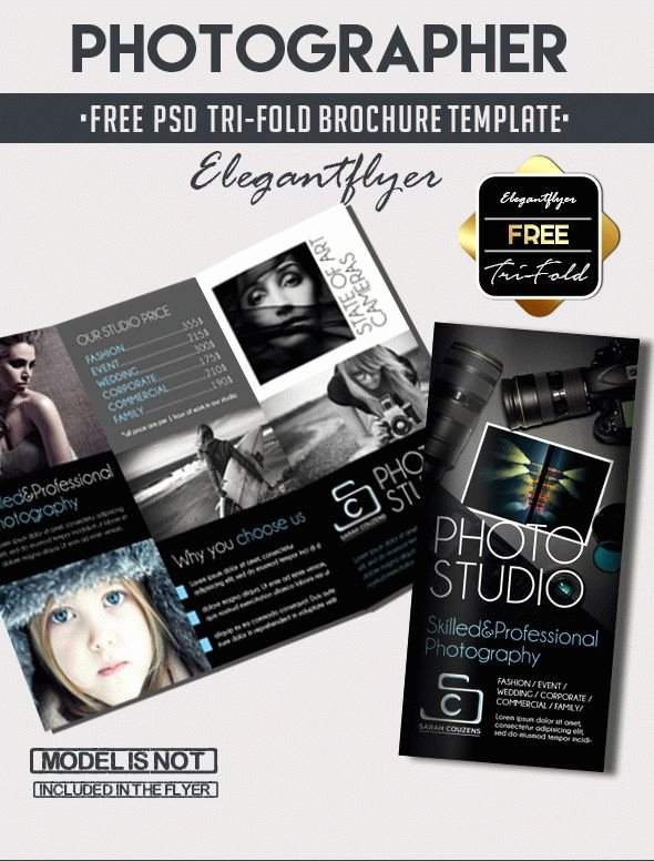 Trifold Brochure Template Photoshop Fresh Grapher – Free Tri Fold Psd Brochure Template – by Elegantflyer