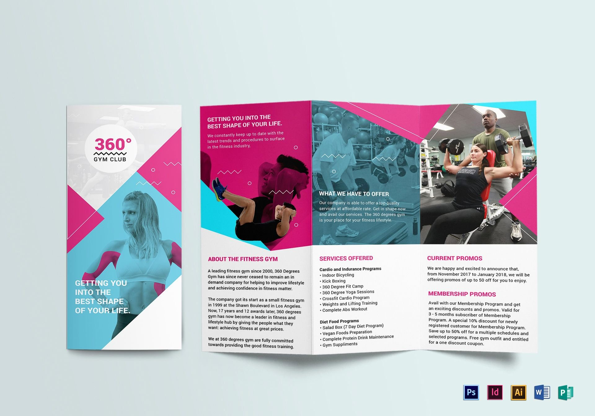 Trifold Brochure Template Photoshop Inspirational Gym Tri Fold Brochure Design Template In Psd Word Publisher Illustrator Indesign