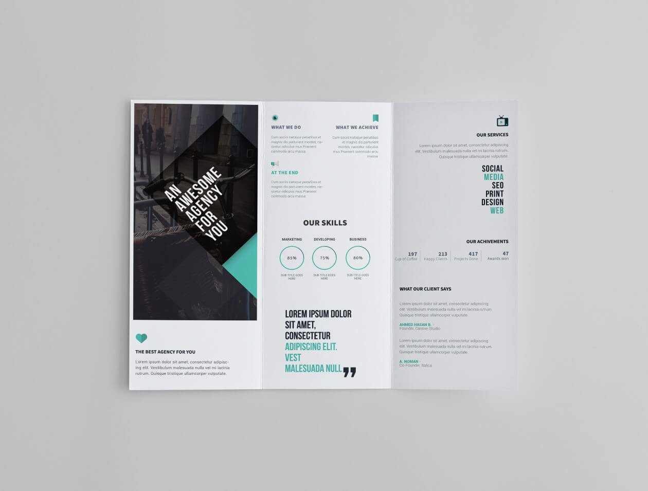 Trifold Brochure Template Photoshop Lovely Free Tri Fold Brochure Template Creative Specks