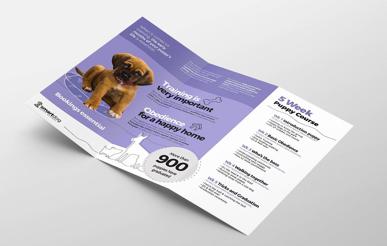 Trifold Brochure Template Photoshop Unique Puppy School Tri Fold Brochure Template In Psd Ai & Vector Brandpacks