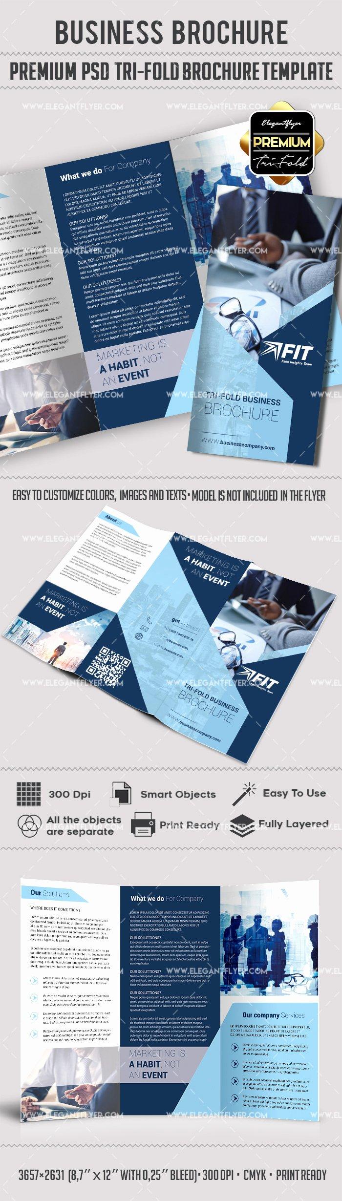 Trifold Brochure Template Photoshop Unique Shop Brochure Template – by Elegantflyer