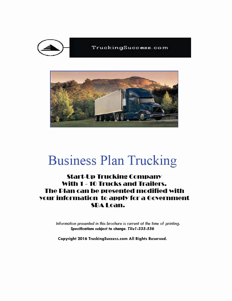 Trucking Business Plan Pdf Best Of Business Plan Trucking 2018 Pdf Truckingsuccess