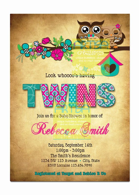 Twin Gender Reveal Invitations Awesome Pin by Megan Booth On Baby Shower
