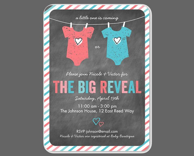 Twin Gender Reveal Invitations New 15 Gender Reveal Invitations Printable Psd Ai Eps