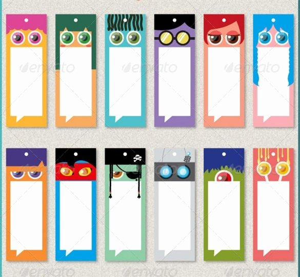 Two Sided Bookmark Template Awesome Bookmark Background Designs for Kids