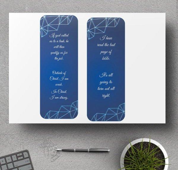 Two Sided Bookmark Template Elegant 6 Bookmark Templates Christian Funeral Memorial