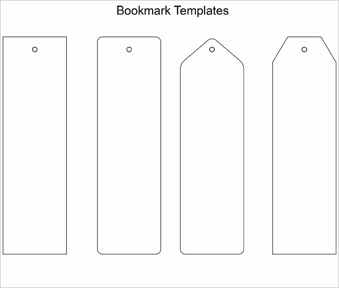 Two Sided Bookmark Template Fresh Bookmark Template