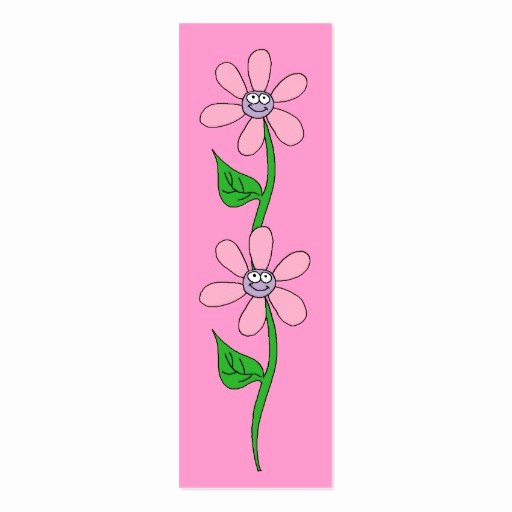 Two Sided Bookmark Template Fresh Kid S Bookmark Girls Pink Flowers Pack Skinny Business