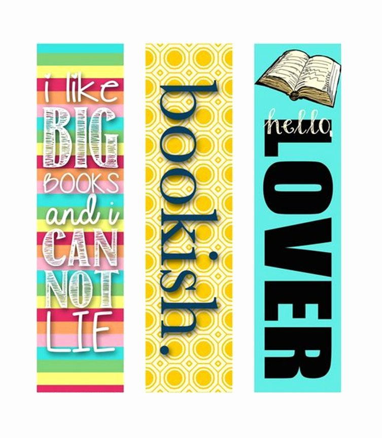 Two Sided Bookmark Template Unique 18 Bookmark Design Templates