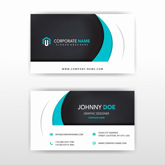 Two Sided Business Card Template Beautiful Modern Vector Double Sided Business Card Design Vector
