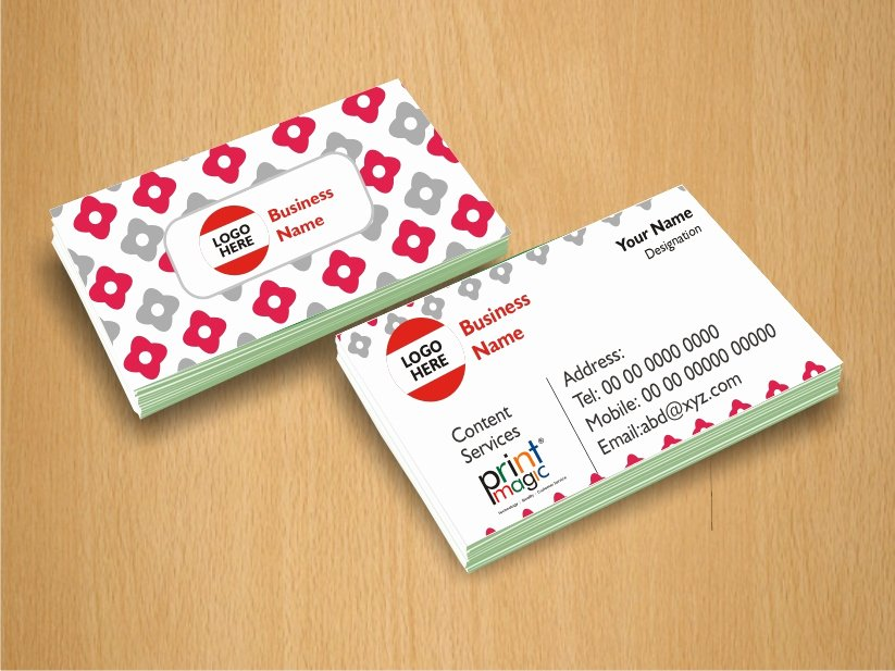 Two Sided Business Card Template Beautiful Two Sided Business Card