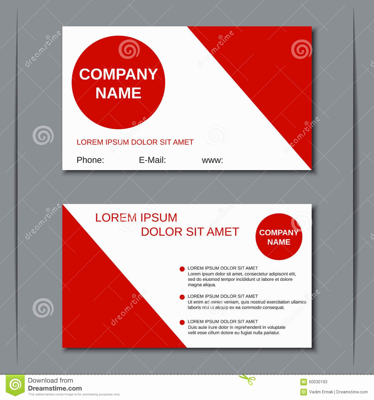 Two Sided Business Card Template Best Of Business Visiting Card Vector Template Stock Vector Image