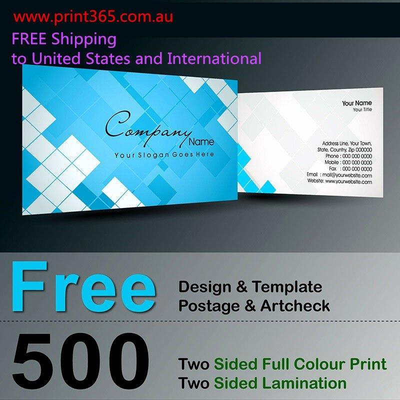 Two Sided Business Card Template Unique 500 Two Sided Business Card Printing 300gsm Free Design Template Laminated