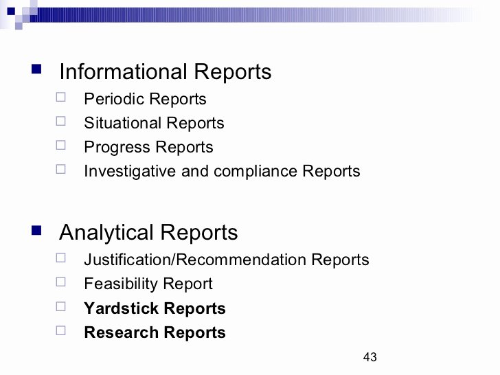 Types Of Business Report Fresh Types Of Business Reports