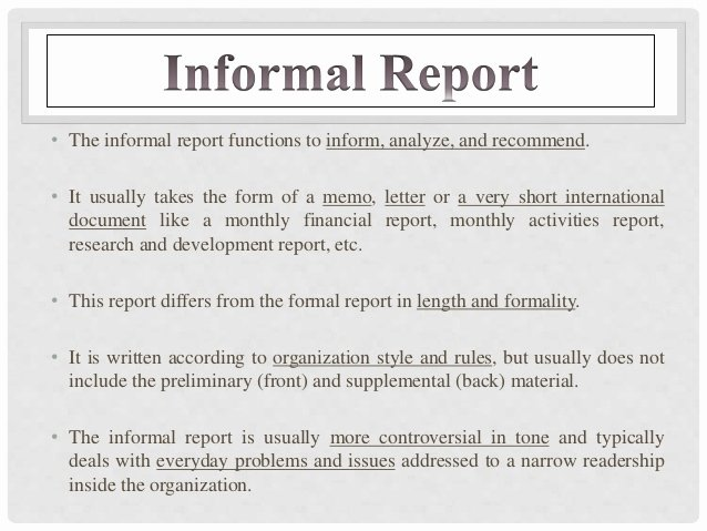 Types Of Business Report Luxury Report Writing Types format Structure and Relevance