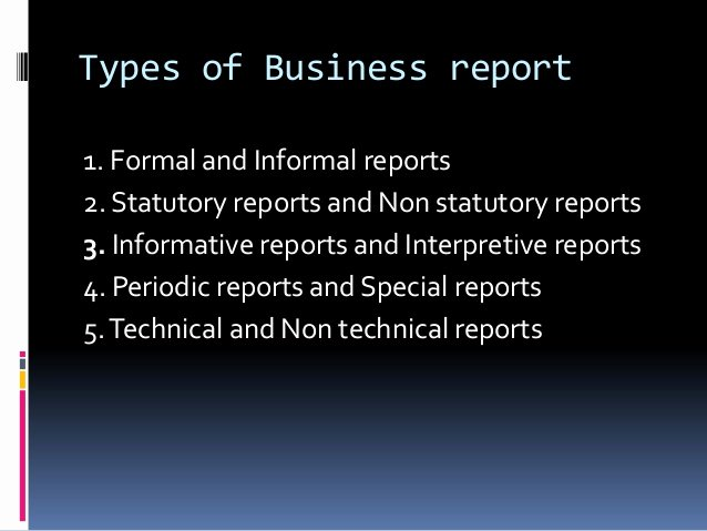Types Of Business Report Unique Business Presentation 1
