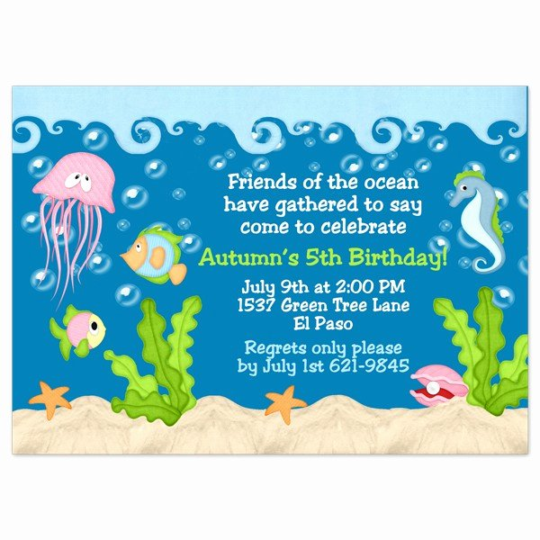 Under the Sea Invitation Template Best Of Under the Sea Birthday Invitations Wording