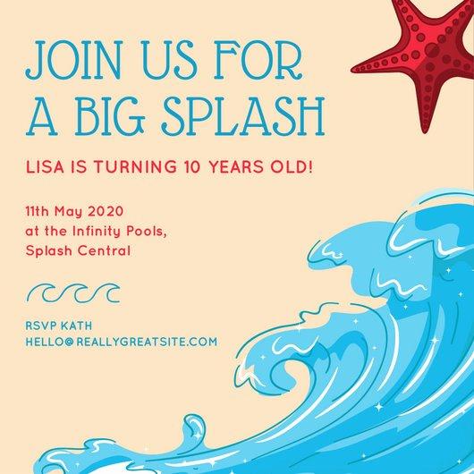 Under the Sea Invitation Template Elegant Birthday Invitation Templates Canva