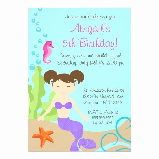 Under the Sea Invitation Template Elegant Free Printable Under the Sea Birthday Party Invitations Template