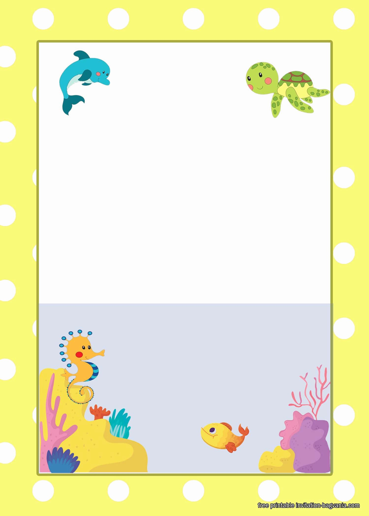 Under the Sea Invitation Template Elegant Free Under the Sea Birthday Invitation Printables – Free Printable Birthday Invitation Templates