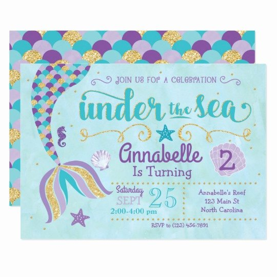 Under the Sea Invitation Template Elegant Mermaid Invitation Under the Sea Invite