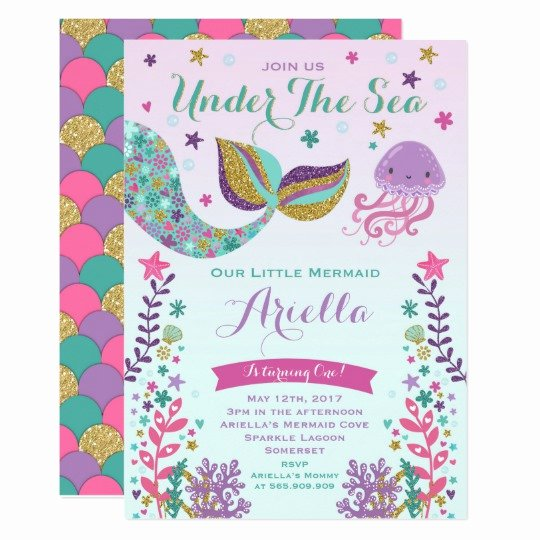 Under the Sea Invitation Template New Mermaid Birthday Invitation Under the Sea Party