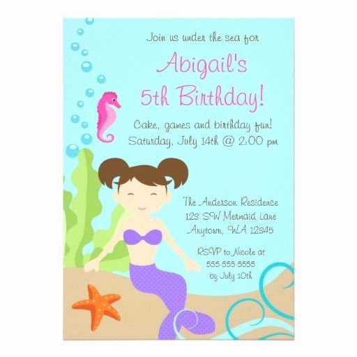 Under the Sea Invitation Template New Under the Sea Birthday Invitations Free Printable Birthday Invitation