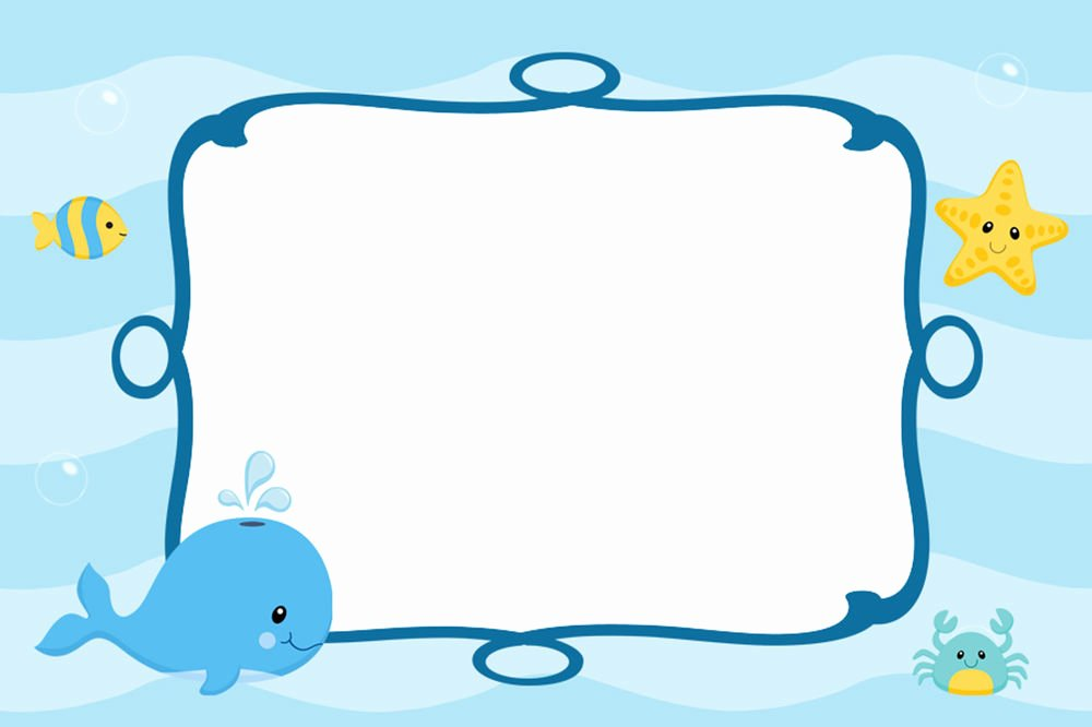 Under the Sea Invitation Template Unique 30 Cards Under Sea Blank Invitations Thank You Note Baby Boy Shower Birthday