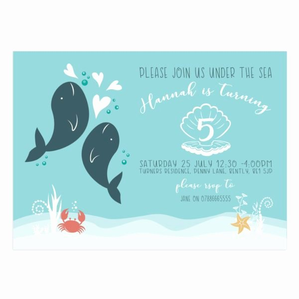 Under the Sea Invitation Template Unique Under the Sea Birthday Party Invitation 5x7 Mockaroon