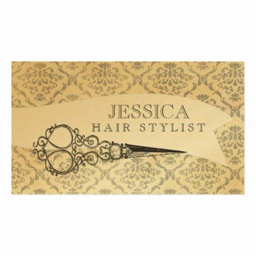 Unique Hair Stylist Business Cards Beautiful Vintage Unique Professional Gold Hair Stylist Business