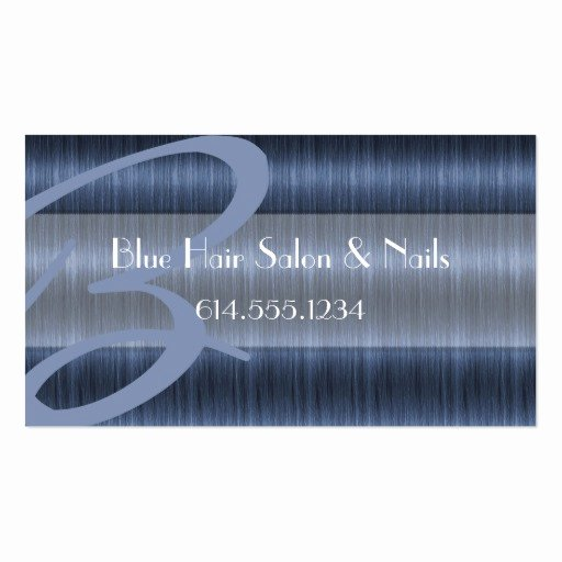 blue hair salon stylist unique business cards