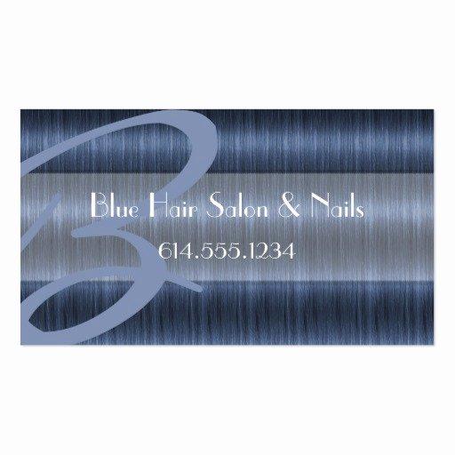 blue hair salon stylist unique business cards