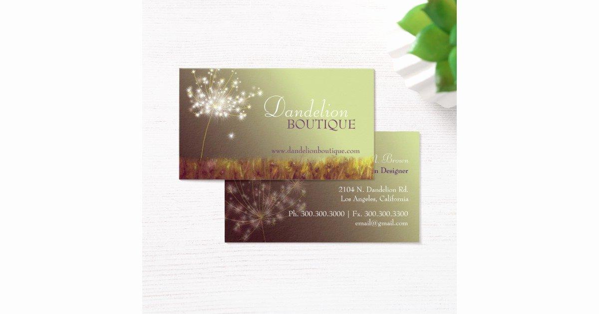 Unique Hair Stylist Business Cards Fresh Dandelion Unique Fashion Salon Business Cards