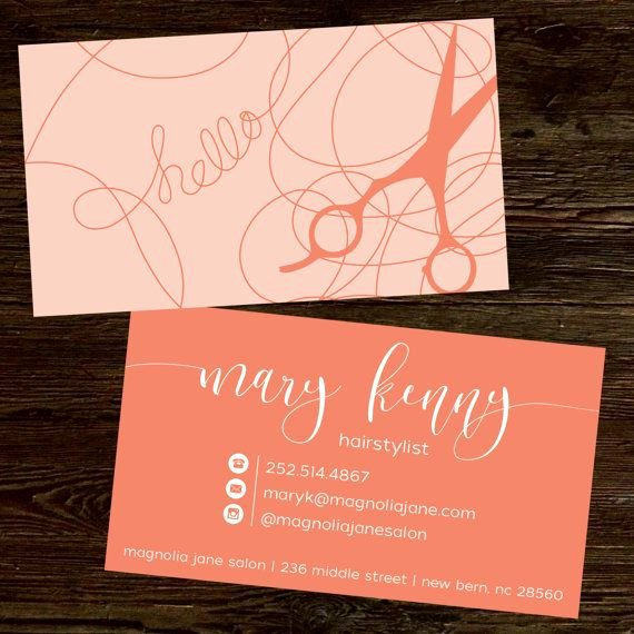 Unique Hair Stylist Business Cards Lovely Modern Custom Hair Stylist Business Cards Professionally