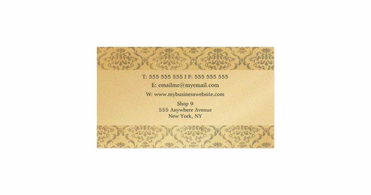Unique Hair Stylist Business Cards Luxury Vintage Unique Professional Gold Hair Stylist Business