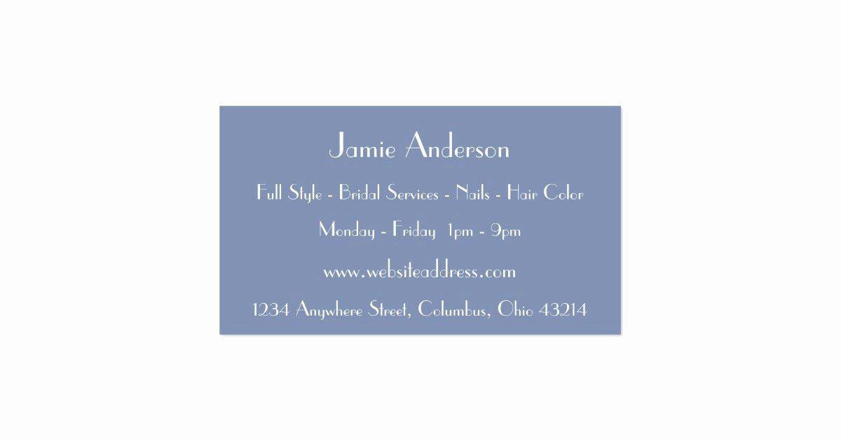 Unique Hair Stylist Business Cards New Blue Hair Salon Stylist Unique Business Cards