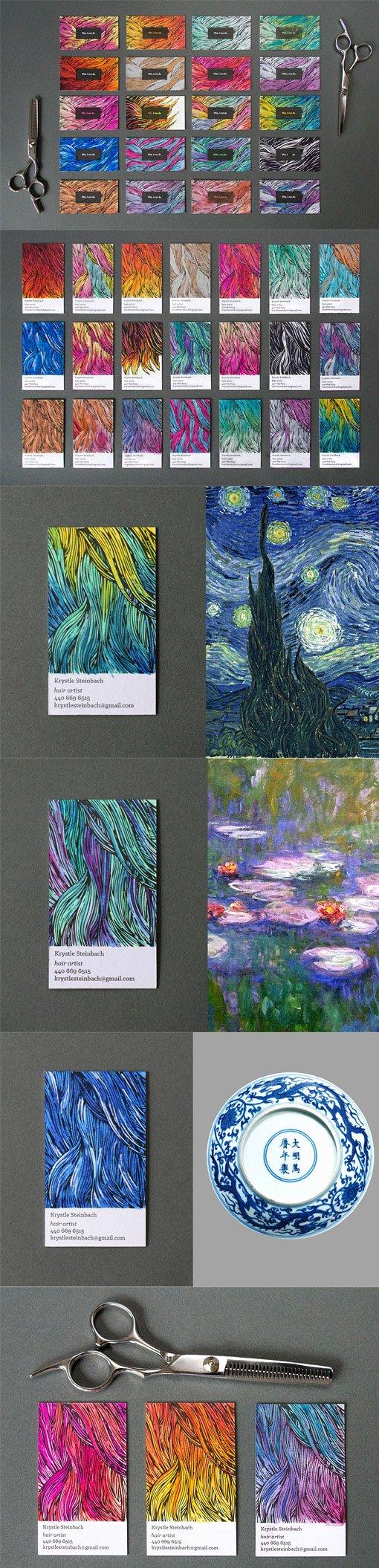 Unique Hair Stylist Business Cards New Unique Hand Coloured Business Cards for A Hair Stylist