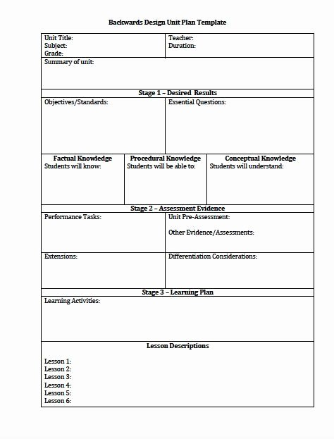 Unit Lesson Plan Template New Unit Plan and Lesson Plan Templates for Backwards Planning Understanding by Design Freebies