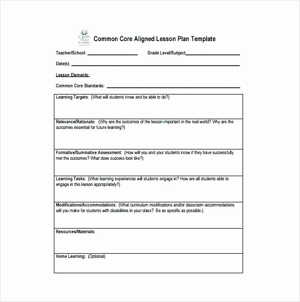 Unit Plan Template Common Core Beautiful 44 Free Lesson Plan Templates Mon Core Preschool Weekly – Learning Tar Lesson