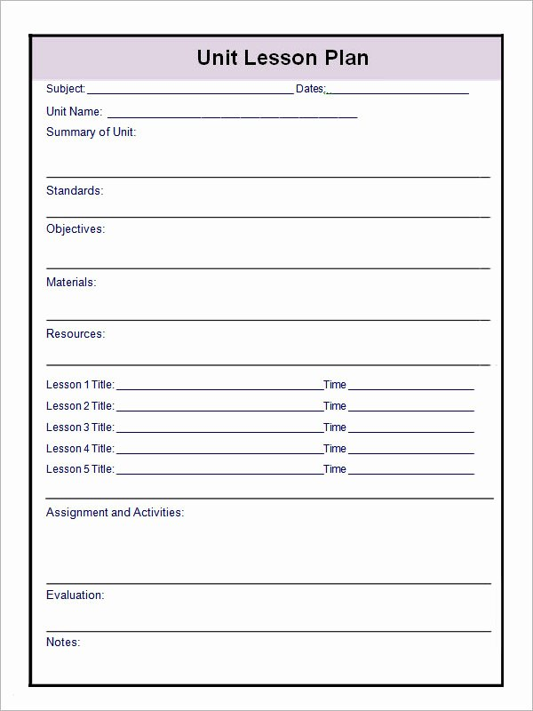 Unit Plan Template Common Core Best Of 12 Sample Unit Plan Templates to Download for Free