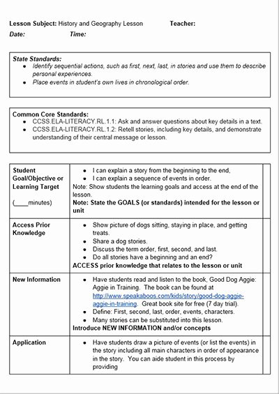 Unit Plan Template Common Core Elegant Mon Core History Lessons Free Lesson Plan Template