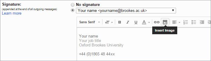 University Student Email Signature New Email Signature Oxford Brookes University