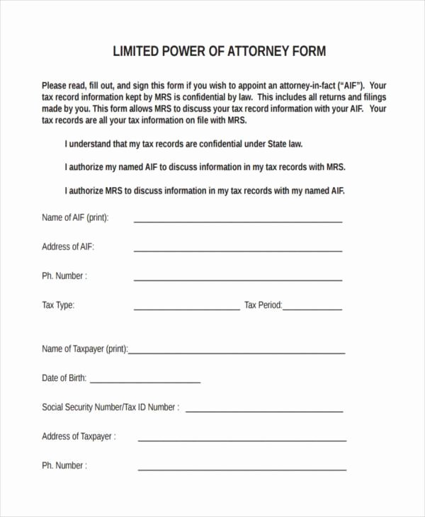 Unlimited Power Of attorney form New Free 35 Power Of attorney forms