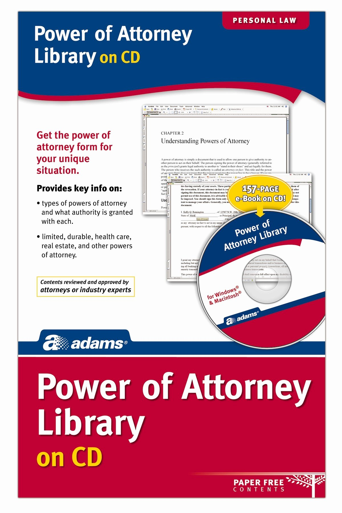 Unlimited Power Of attorney form New Power Of attorney Library Cd Version