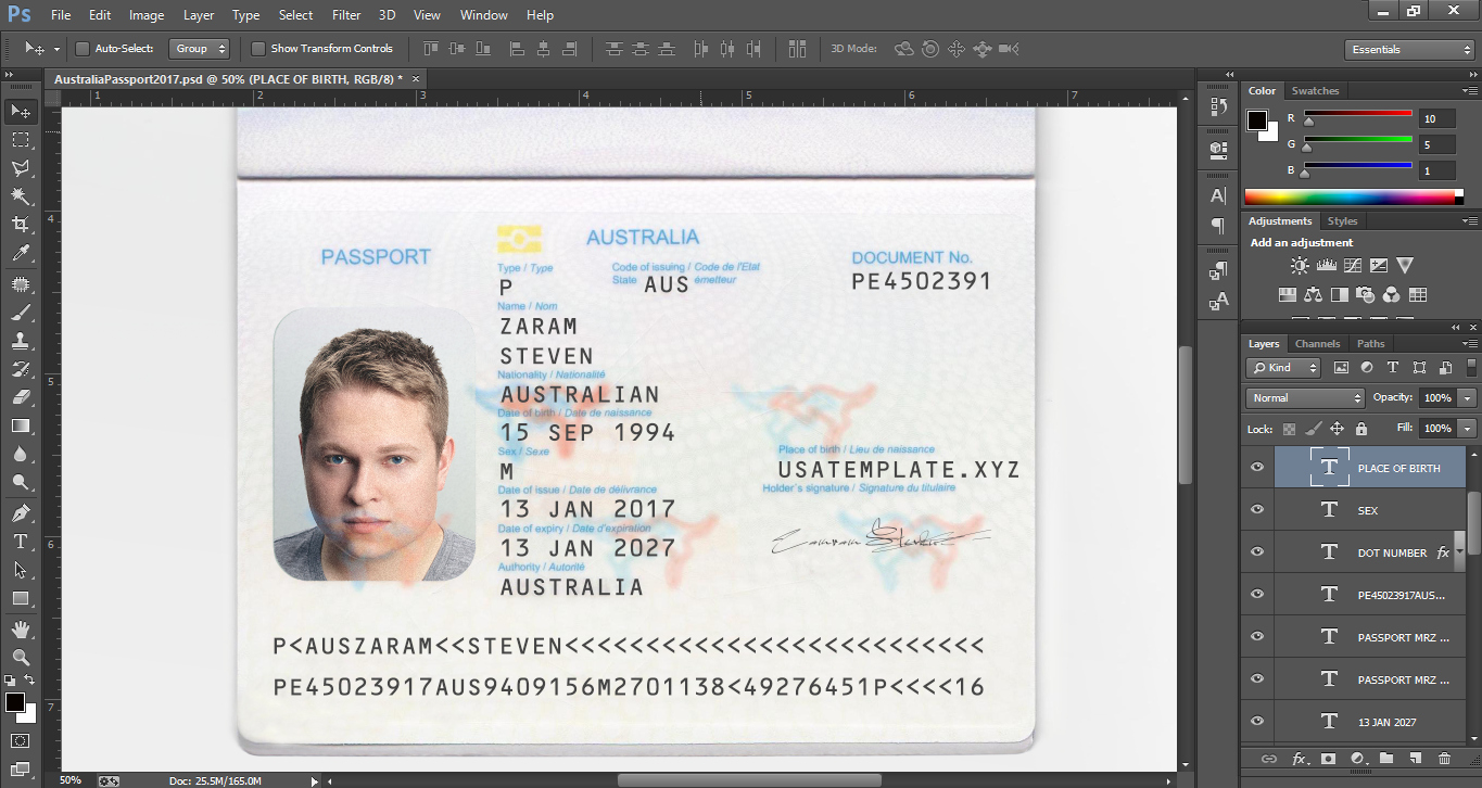 Us Passport Template Psd Beautiful New Australia Passport Editable Psd Template Psd Template Usa Uk Eu Ca Au asia