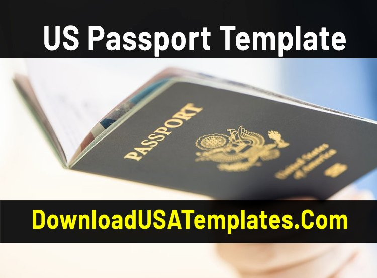 Us Passport Template Psd Beautiful Us Passport Template [download Fake Editable Psd File]