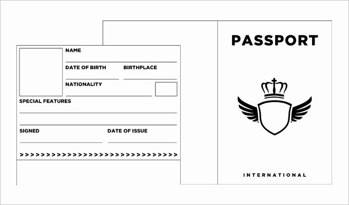 Us Passport Template Psd Best Of Passport Template